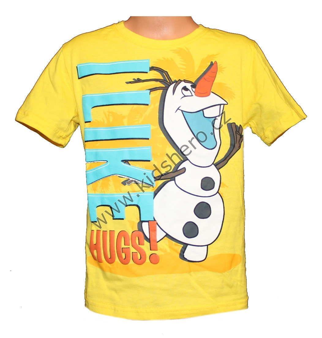 Triko krátký rukáv FROZEN olaf chlapecké licenční tričko s krátkým rukávem Disney