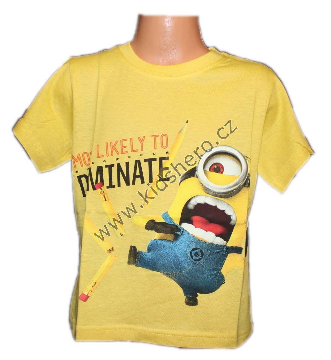 Triko MIMONI tričko chlapecké licenční Despicable Me