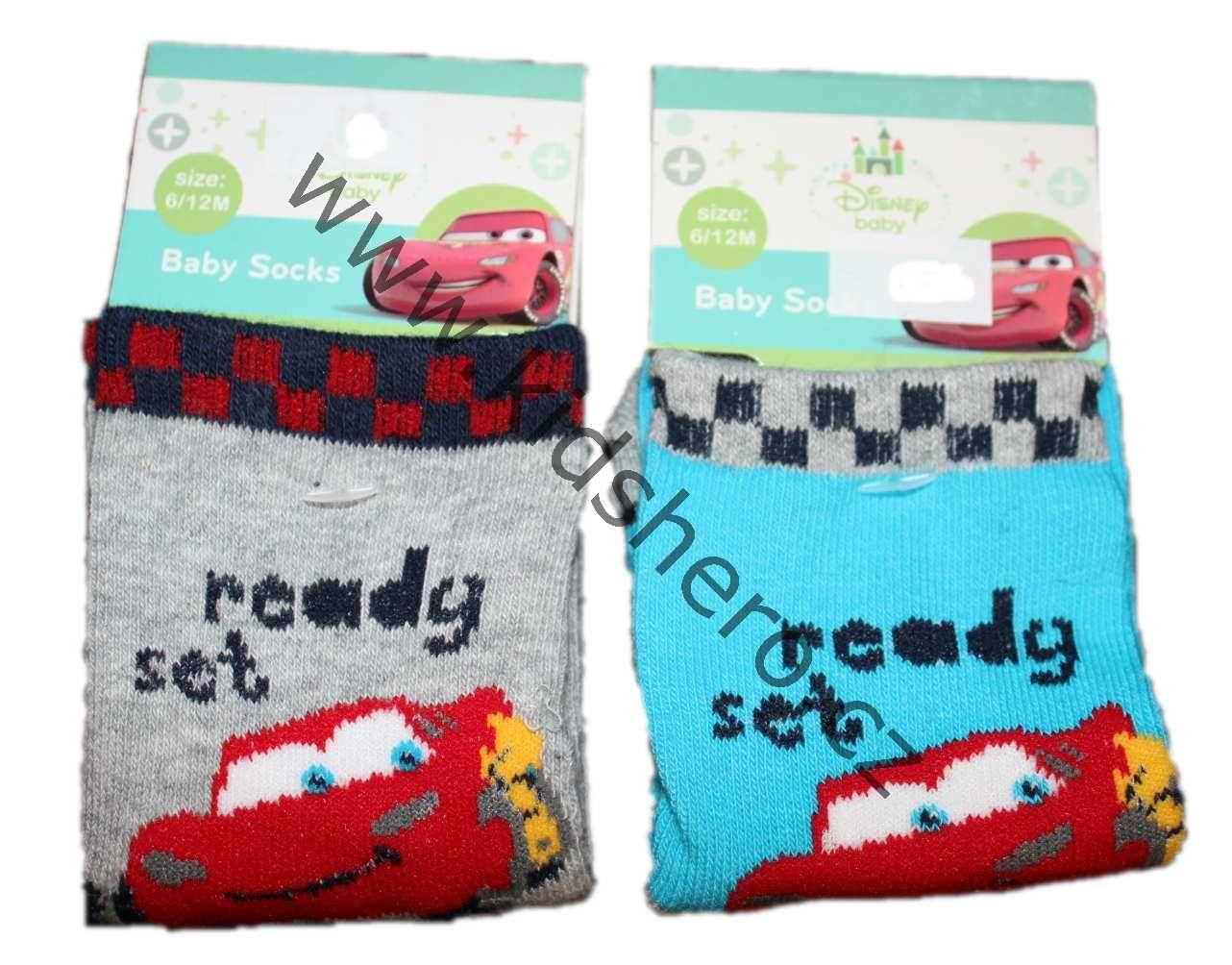 Dětské kojenecké ponožky CARS chlapecké licenční oblečení Disney