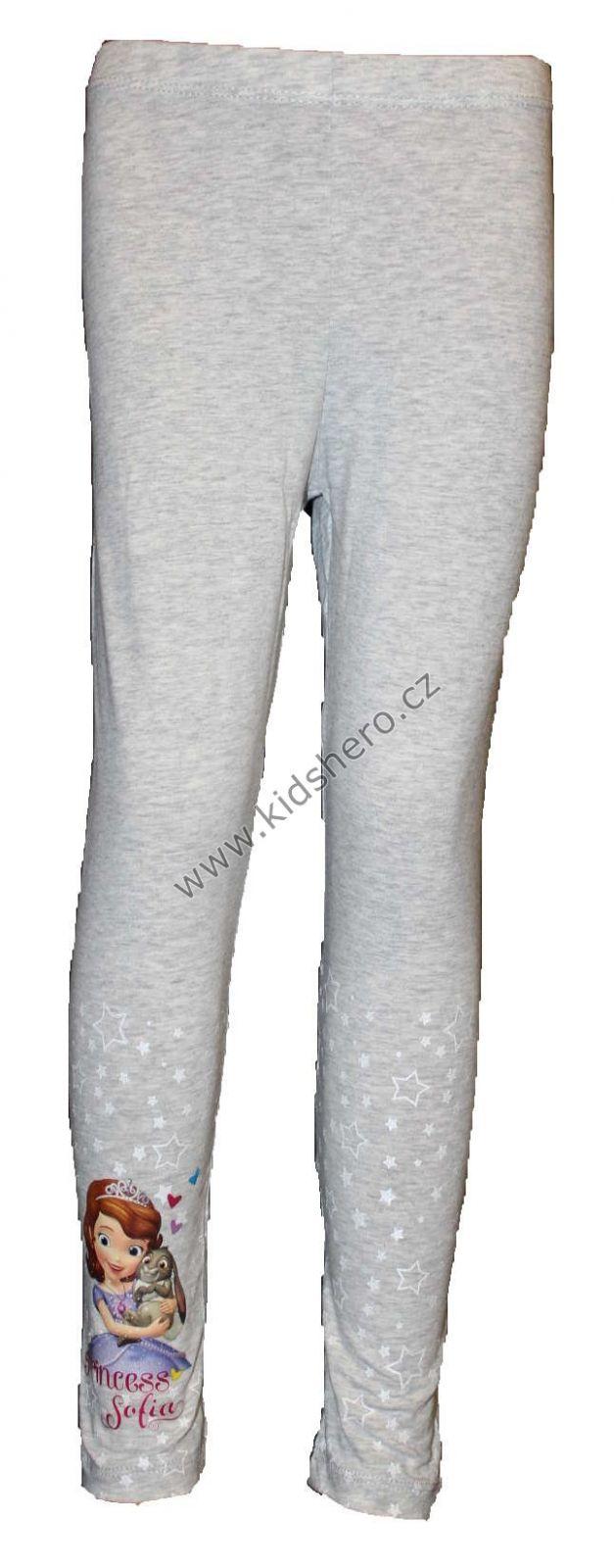 Bavlněné legíny - hvězdičky - SOFIA - šedé Disney