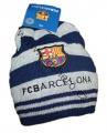 Čepice FC Barcelona - modro-šedá