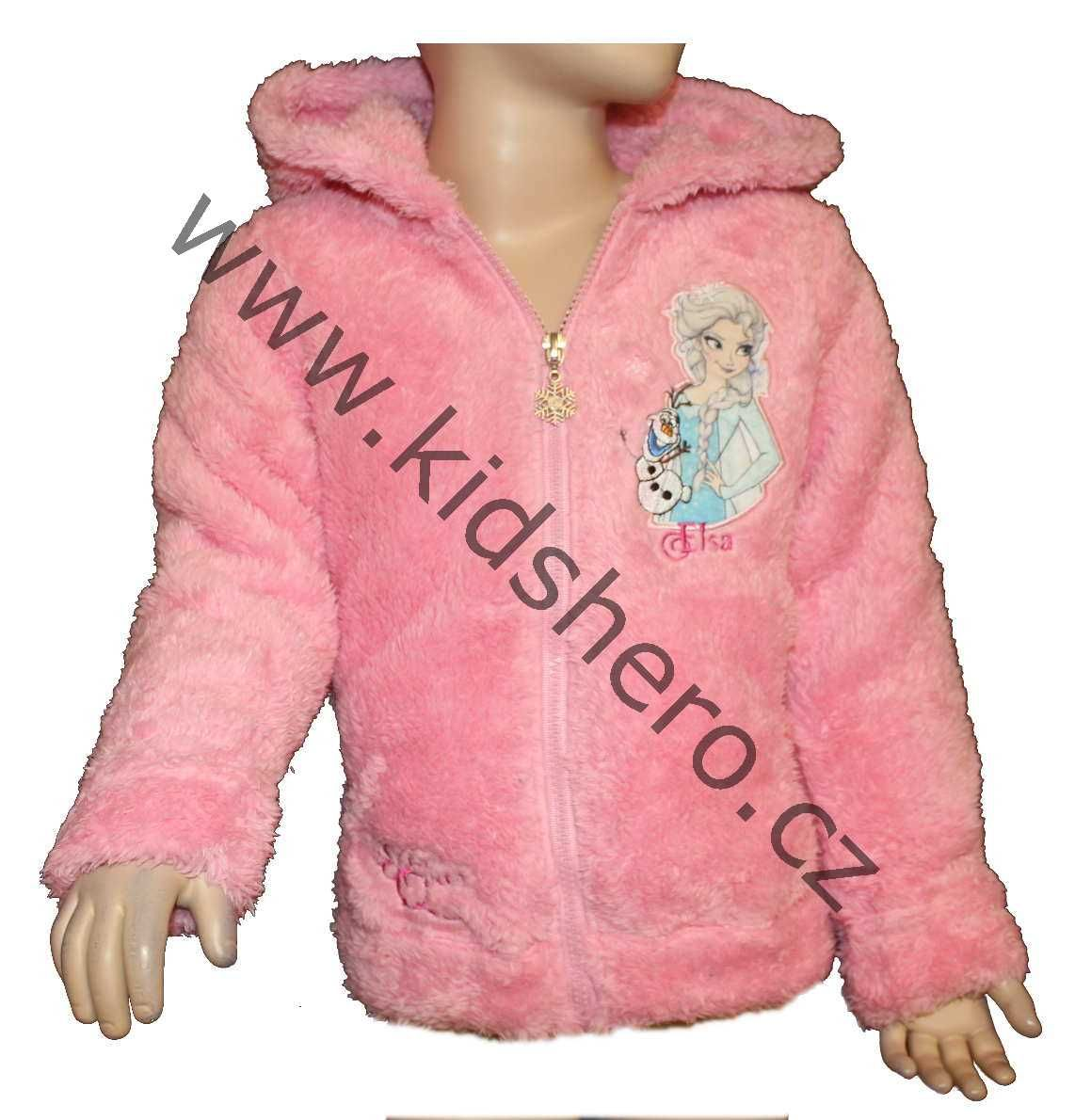 Dětská mikina FROZEN licenční dívčí mikina, chlupatá mikina, dívčí chlupatka, mikina Frozen Disney