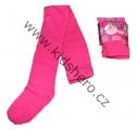 Bavlněné punčocháče JUST PLAY - tm.růžové