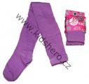 Bavlněné punčocháče JUST PLAY - fialové