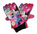 Dětské lyžařské rukavice MINNIE- růžové