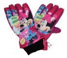 Dětské lyžařské rukavice MINNIE- fialové