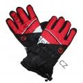 Lyžařské rukavice YDI - červeno-černé