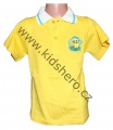 Triko krátký rukáv s límečkem MIMONI - žluté