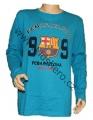 Triko dlouhý rukáv FC BARCELONA - sv.modré