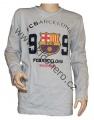 Triko s dlouhým rukávem FC BARCELONA - šedé