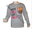 Triko dlouhý rukáv FC BARCELONA - šedé