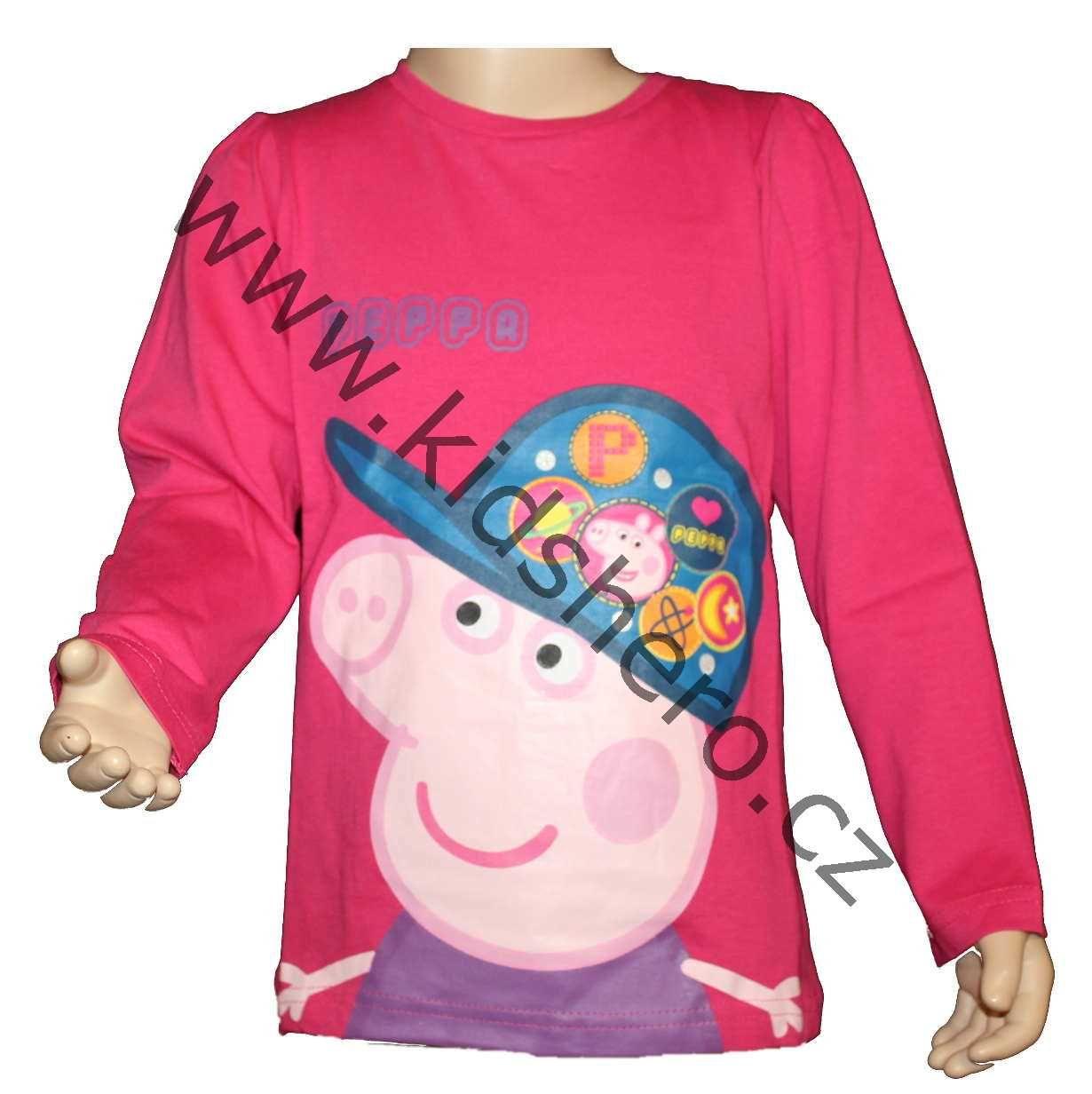 Triko dlouhý rukáv PEPPA PIG - růžové Astley Baker Davies