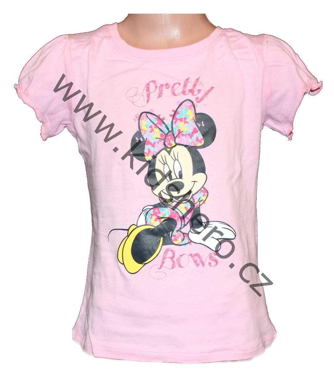 Triko tričko krátký rukáv MINNIE dívčí triko Disney