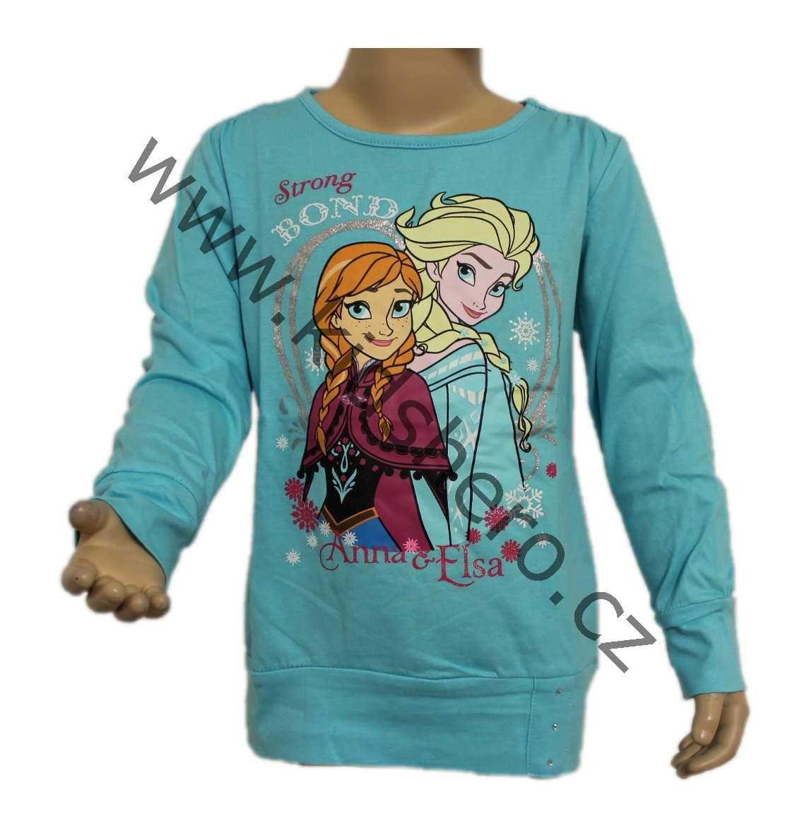 tunika Frozen, triko dlouhý rukáv, tričko ledové království Disney