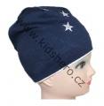 Dětská bavlněná čepice - hvězdičky - modro-bílá