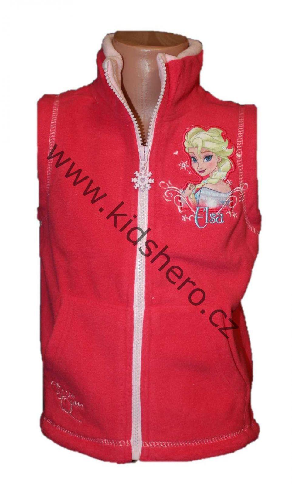 Dětská fleesová vesta FROZEN licenční dívčí vesta Disney