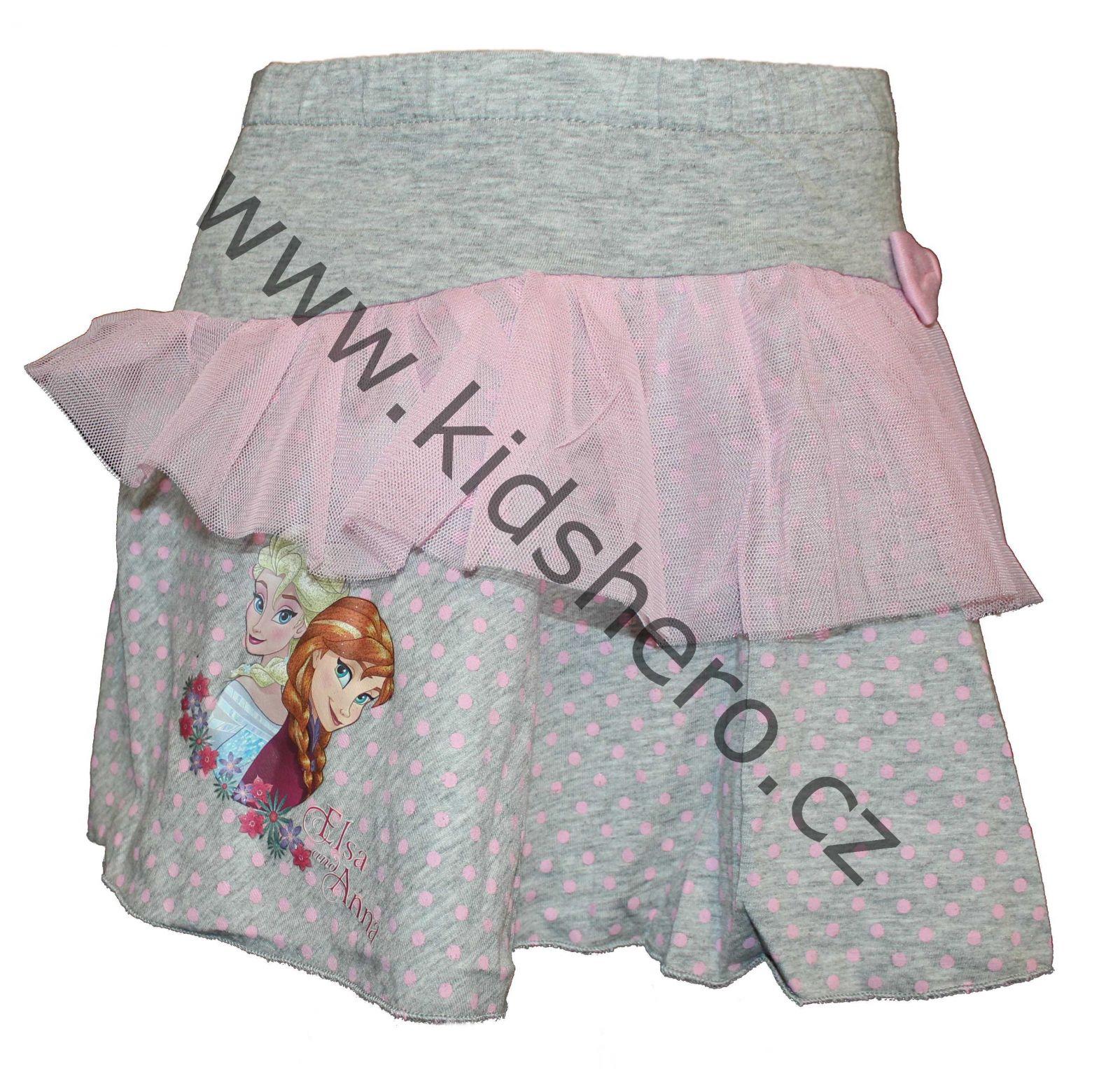 Dětská sukně Frozen, dívčí sukýnka ledové království, sukně Disney
