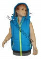 Dětská vesta KUGO - modro-fosforová