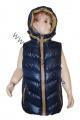 Dětská vesta - modro-hnědá