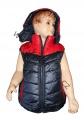 Dětská prošívaná vesta - modro-červená