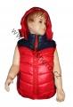 Dětská prošívaná vesta - červeno-modrá