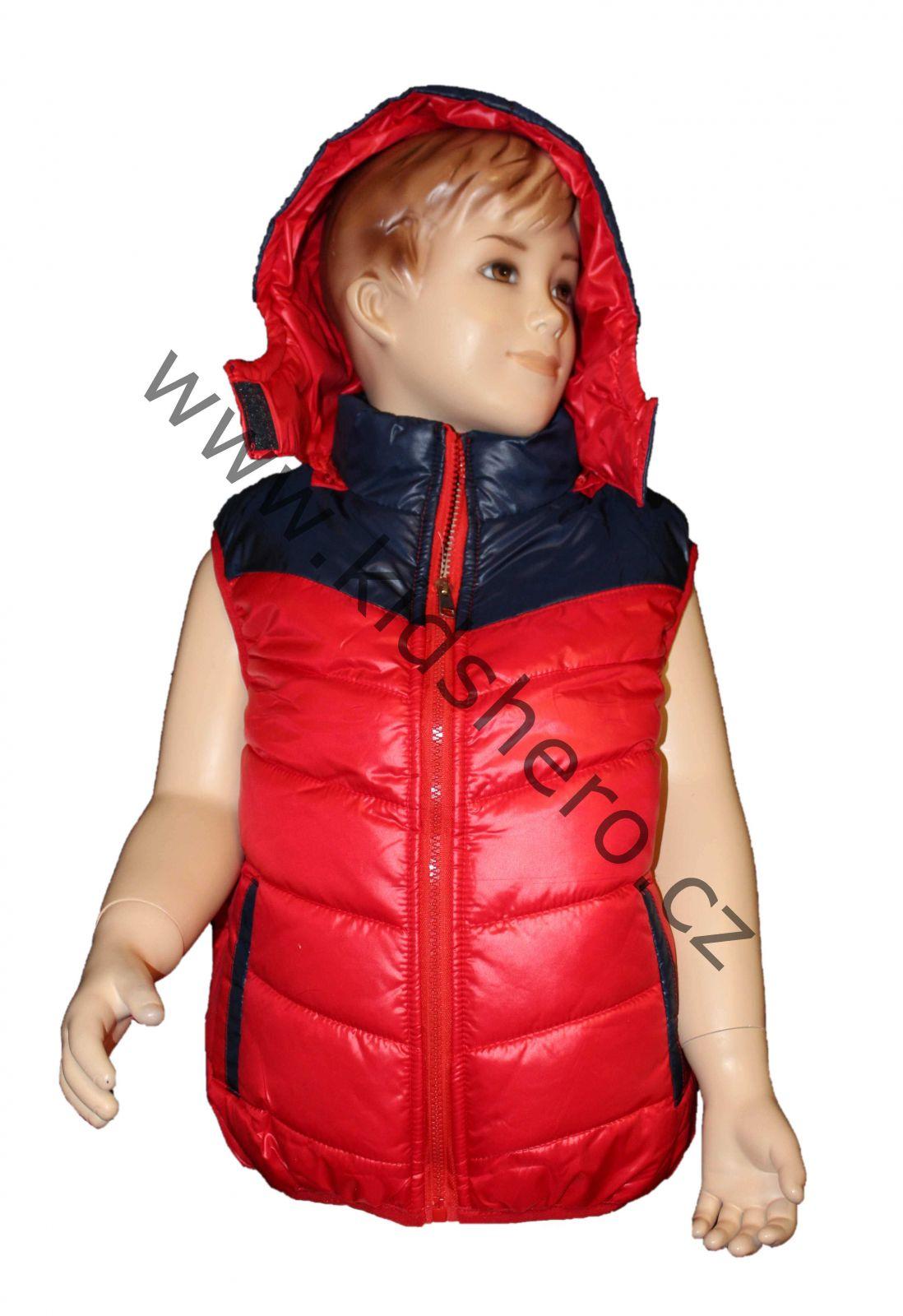 Dětská vesta, prošívaná vesta, vestička FASHION