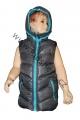 Dětská vesta - šedo-tyrkysová 2