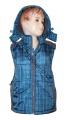 Dětská vesta GRACE - modro-šedá