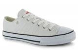 Plátěné boty Lee Cooper -  bílé