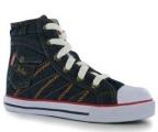 Plátěné kotníkové boty Lee Cooper - džínové