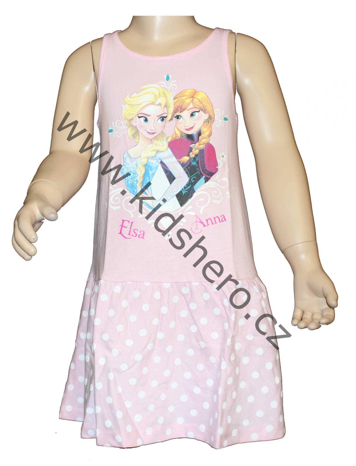 Dětské šaty Frozen, dívčí šaty ledové království Disney