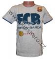 Triko krátký rukáv FC BARCELONA - šedé 3
