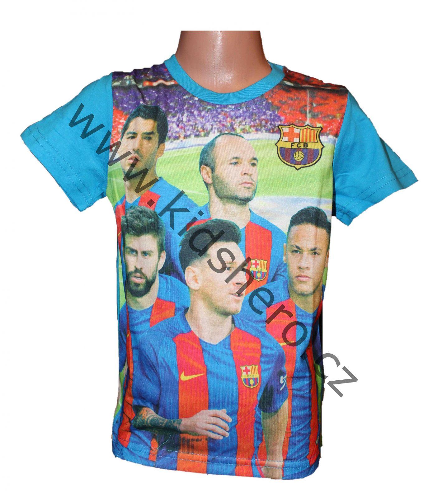 Dětské triko FC BARCELONA krátký rukáv chlapecké Messi
