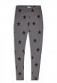 Legíny s hvězdičkami - šedo-černé