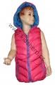 Dětská vesta - růžovo-modrá