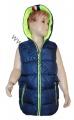 Dětská vesta - tm.modro-fosforově zelená
