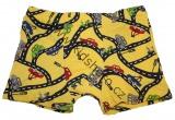 Bavlněné boxerky s auty - žluté