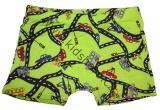Bavlněné boxerky s auty - zelené