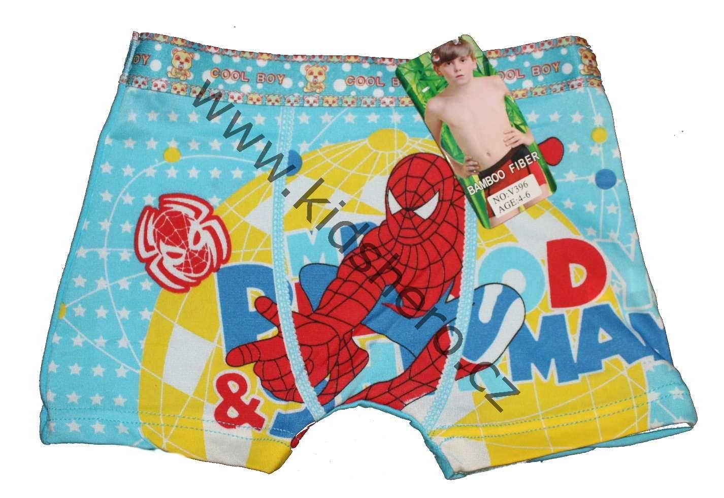 chlapecké boxerky spiderman, trenkoslipy, bambusové boxerky