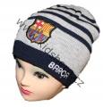 Čepice FC Barcelona - tm.modro-šedá