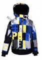 Lyžařská bunda JUST PLAY - modro-žlutá