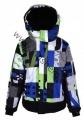 Lyžařská bunda JUST PLAY - modro-zelená