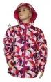 Šusťáková bunda KUGO - růžovo-fialová - velká