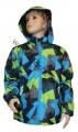Šusťáková bunda KUGO - zeleno-modrá - velká