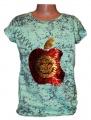 Měnící tričko, tunika - zelené - jablko