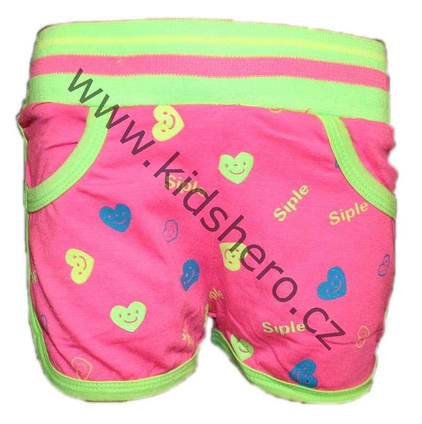 Dětské sportovní kraťasy, dívčí kraťasy, dětské bavlněné kraťasy