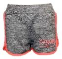 Dívčí sportovní kraťasy - KUGO - šedo-oranžové
