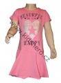 Dětské bavlněné šaty KUGO - sv.růžové
