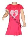 Dětské bavlněné šaty KUGO - tm.růžové
