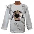 Měnící tričko, triko - dl.rukáv - chlapecké - míč - bílé